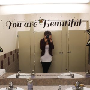 custom mirror graphics - bathrooms