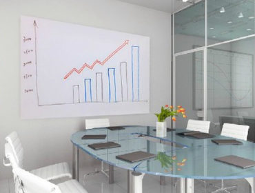 Turn a flat wall into a whiteboard surface