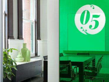 Office Front Door and Window Logos