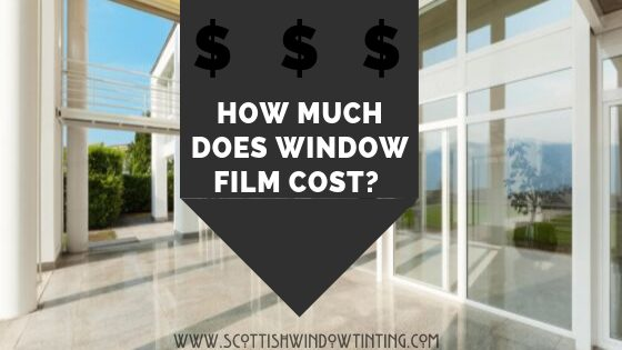How much does window film cost?
