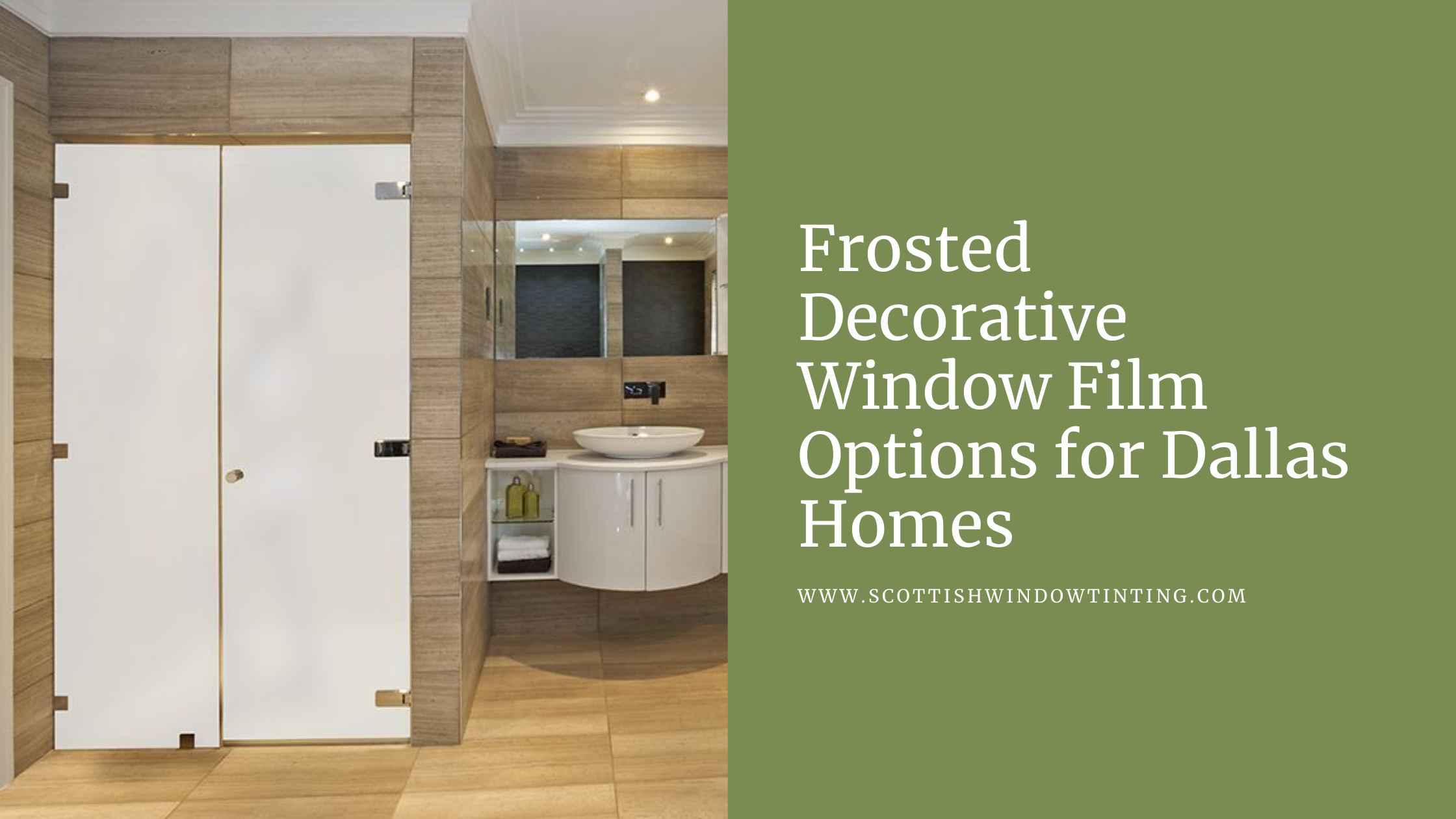 Frosted Decorative Window Film Options for Dallas Homes