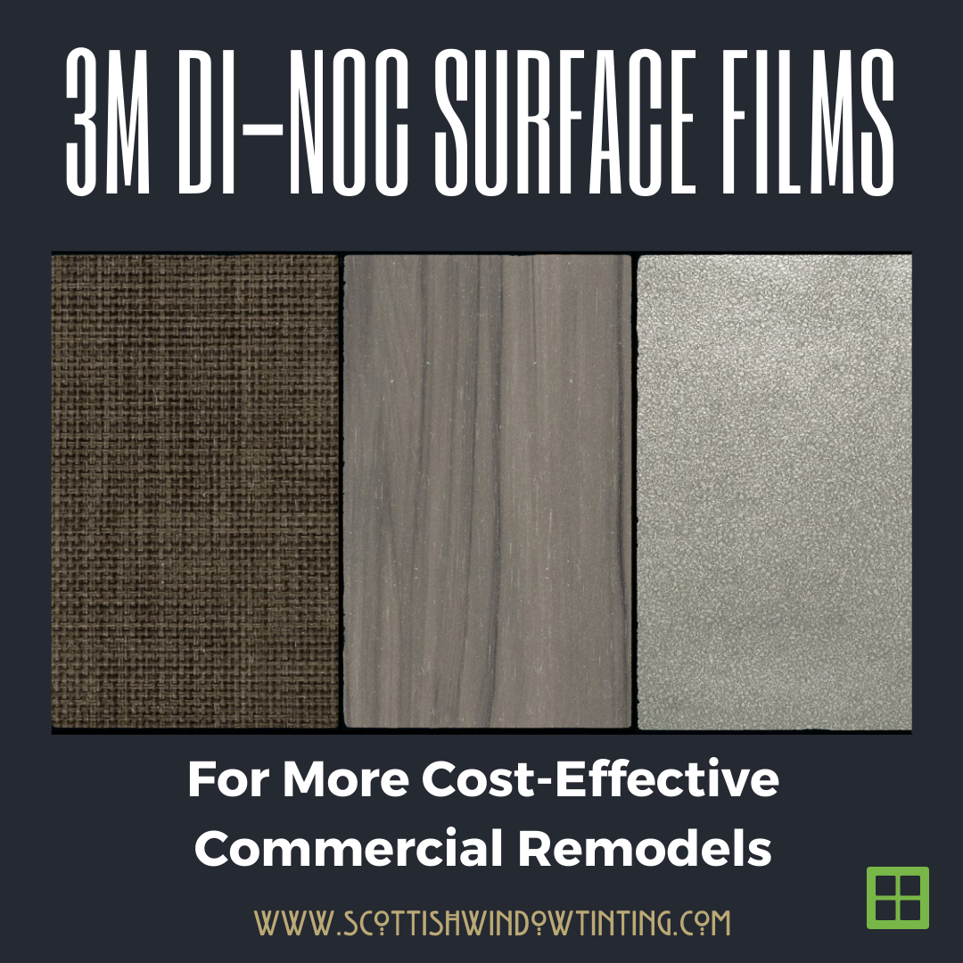 DI-NOC Surface Films For Cost-Effective Commercial Space Remodels