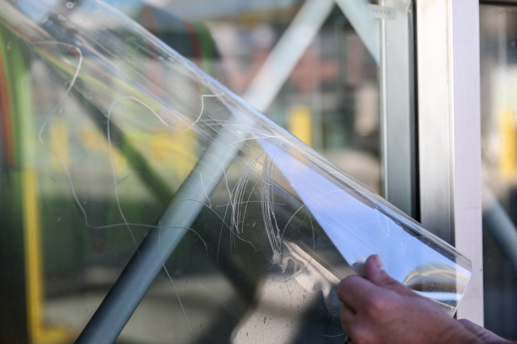 window film seismic mitigation