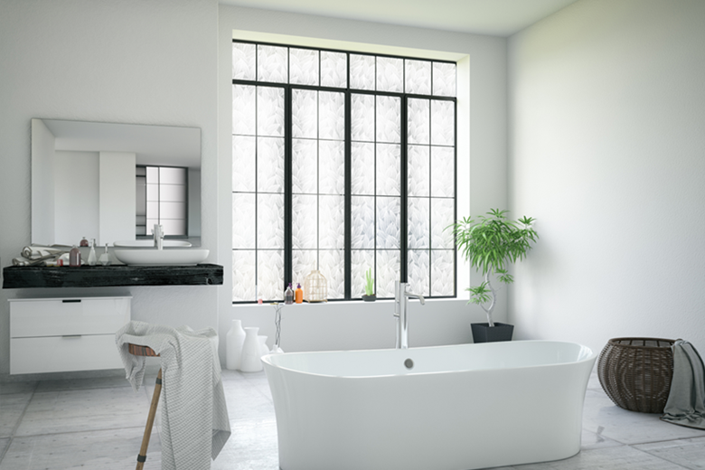 patterned window film bathroom privacy chicago